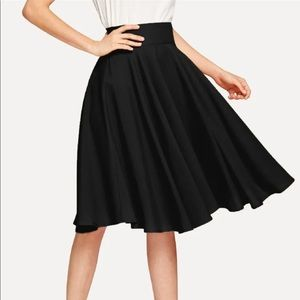 High rise wide waistband circle skirt!